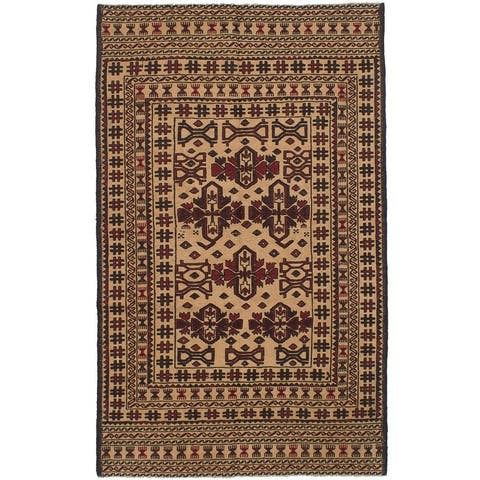 Flat-weave Shiravan SMK Ivory Wool Sumak
