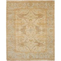 eCarpetGallery Hand-knotted Royal Ushak Beige Wool Rug - 8'1 x 10'0