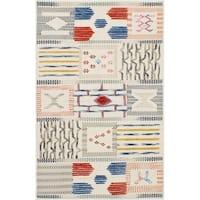 ECARPETGALLERY Flat-weave ELMAS Cream Wool Kilim