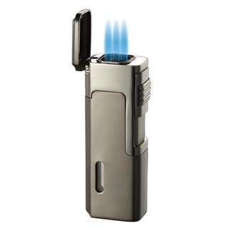 Visol Janus Triple Flame Torch Lighter - Dark Grey