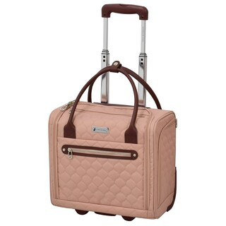 London Fog Calypso 15-inch Under Seat Carry On Rolling Tote Bag (Option: Apricot)