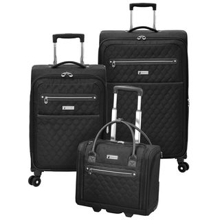 London Fog Calypso 3-Piece Expandable Spinner Luggage Set