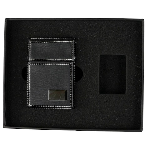 Visol Cigarette Pack Holder and Zippo Migo Gift Set - Empty