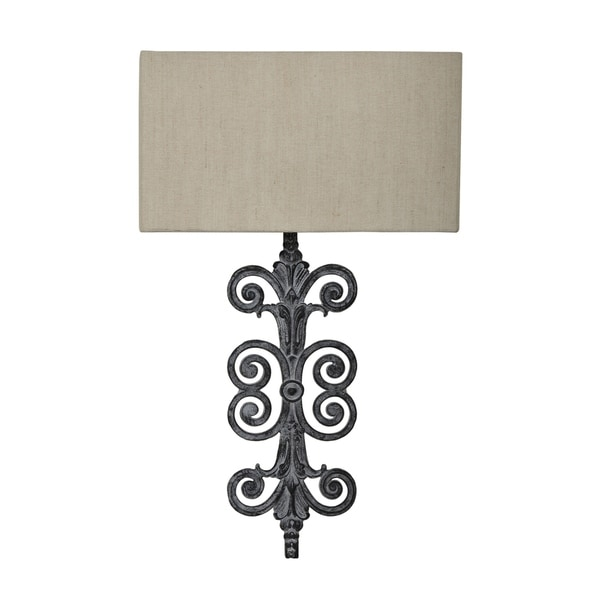 Lazzaro Antique Iron 30-inch Wall Lamp
