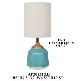Blue 19.5-inch Table Lamp