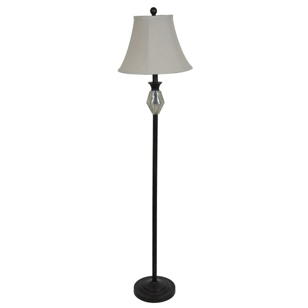 Metal Mercury Glass 58-inch Floor lamp