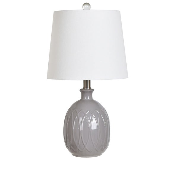 Grey 21.25-inch Table Lamp