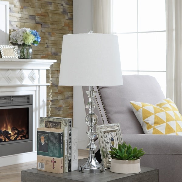 Jessica Silver and Clear 28.5-inch Table Lamp