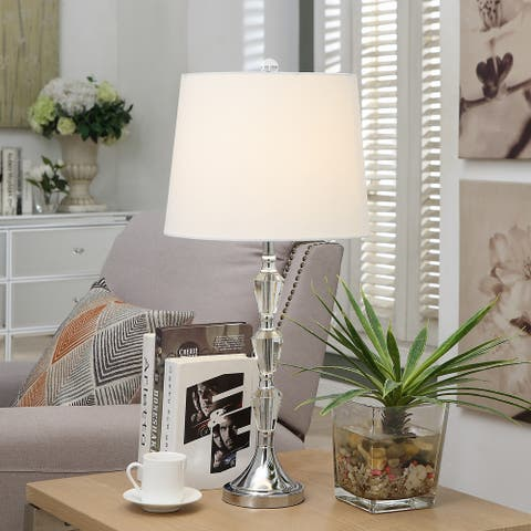 Jerri Silver and Clear 28.5-inch Table Lamp