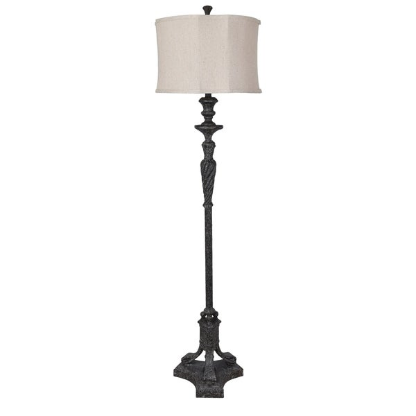 Castilian Antique Black 65-inch Floor Lamp