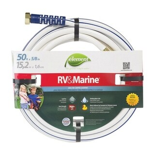 Element 5/8 in. Dia. x 50 ft. L RV/Marine Hose Kink Resistant Safe for Drinking Water
