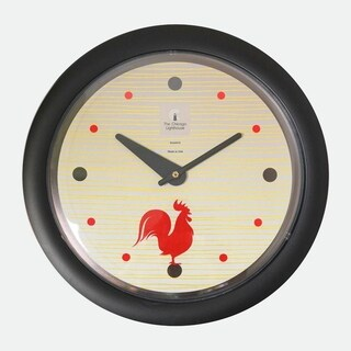 Chicago Lighthouse, Morning Rooster 14 inch decorative wall clock