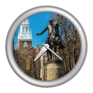 Chicago Lighthouse, Boston - Paul Revere, 14 inch decorative wall clock