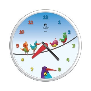 Chicago Lighthouse Birds on a Wire 12.75 inch children's wall clock