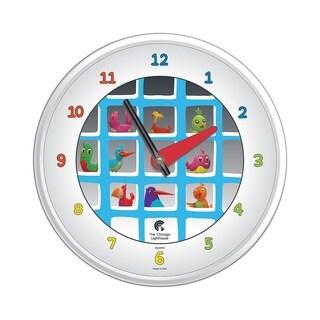 Chicago Lighthouse, Cartoon Bird House, 12.75 inch children's wall clock