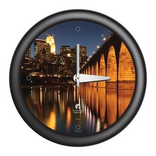Chicago Lighthouse, Minneapolis - 3rd St. Bridge 14 inch decorative wall clock