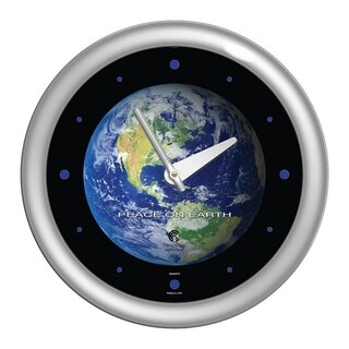 Chicago Lighthouse, Peace on Earth 14 inch decorative wall clock