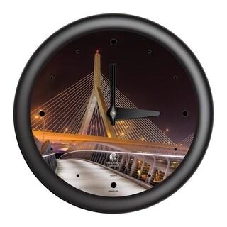 Chicago Lighthouse, Boston - Bunker Hill Bridge, 14 inch decorative wall clock