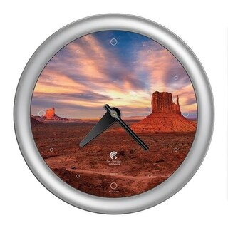 Chicago Lighthouse, Southwest - Monument Valley 14 inch wall clock