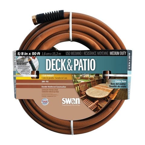 Swan 5/8 in. Dia. x 50 ft. L Deck & Patio Hose Kink Resistant