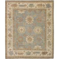 eCarpetGallery Hand-knotted Royal Ushak Baby Blue Wool Rug - 8'4 x 10'0