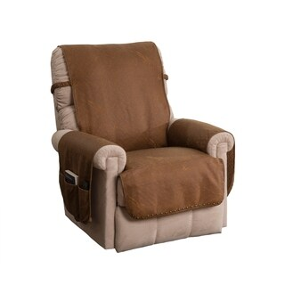 Faux Leather Brown Recliner Furniture Protector Slipcover