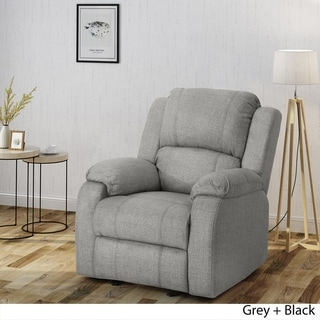 Link to Mozelle Classic Fabric Gliding Recliner Club Chair by Christopher Knight Home Similar Items in As Is