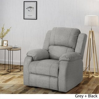 Mozelle Classic Fabric Gliding Recliner Club Chair by Christopher Knight Home