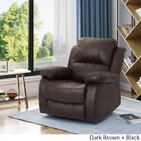 Alianna Classic Leather Gliding Swivel Recliner Club Chair by Christopher Knight Home