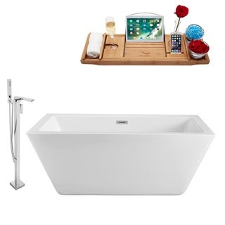 """Tub, Faucet and Tray Set Streamline 70"""" Freestanding NH321-140"""