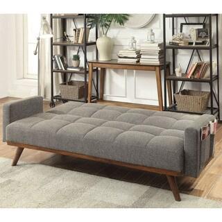 Furniture of America Alto Mid Century Modern Tufted Futon Sofa
