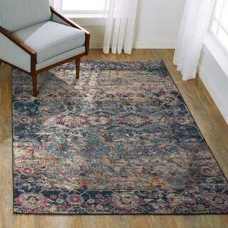 Link to Alexander Home Malik Vintage Boho Floral Distressed Rug Similar Items in Rugs