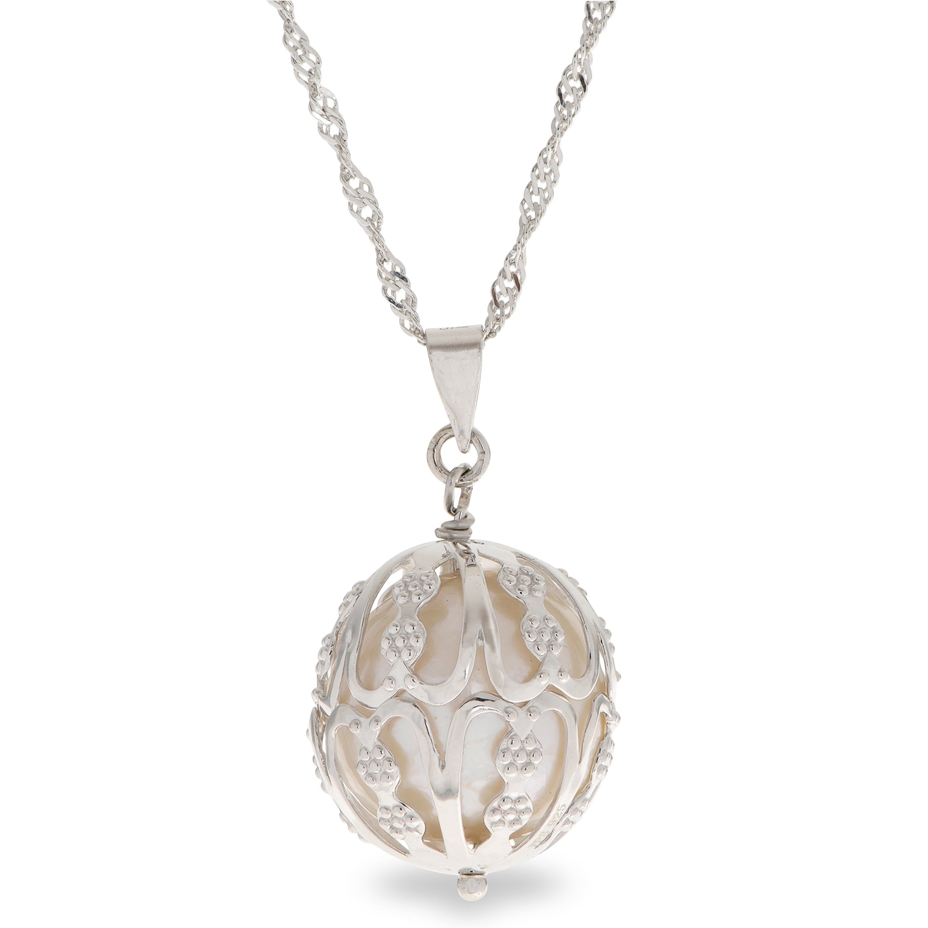 Cheryl M Sterling Silver /& Gold Plated 8mm X /& O CZ Pendant Necklace 18