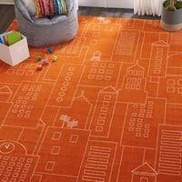 Nourison Miles Orange Kids Area Rug - 8' x10'