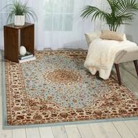 Nourison Delano Blue/Beige Traditional Area Rug - 9' x12'