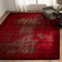 "Nourison Karma Vintage Distressed Red Area Rug - 6'7"" x 9'6"""