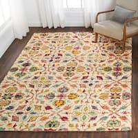 Nourison Vivid Ivory/Multi Blossom Rug - 6'6 x 9'6