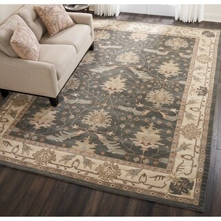 Nourison India House Blue Traditional Area Rug - 6'6 x 9'6