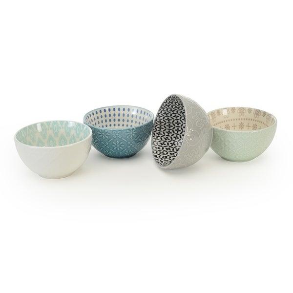 Signature Housewares Set of 4 Bowls, Pad Print Design 13, 6-Inch Diameter. Opens flyout.