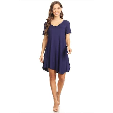 Women's Solid Knit Short Dress