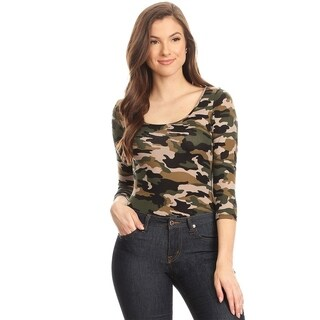 Women's Camouflage Bodysuit Slim Top (3 options available)