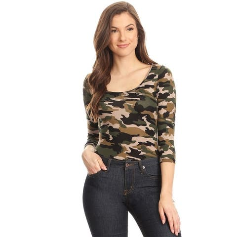 Women's Camouflage Bodysuit Slim Top