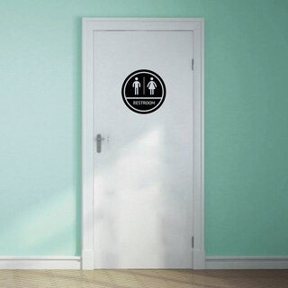 Restroom Sign Wall Decal - MEDIUM (More options available)