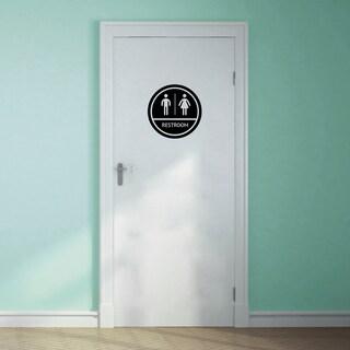 Restroom Sign Wall Decal - MEDIUM
