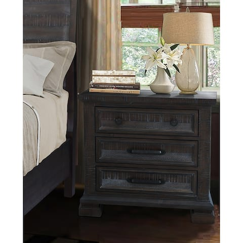 Best Master Furniture Kate 3 Drawer Nightstand