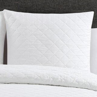 Quilted Washed Belgian Linen Euro Shams (Set of 2) (As Is Item)
