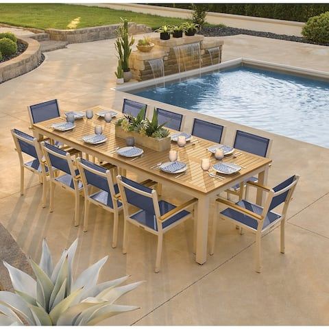 Oxford Garden Travira 11-piece Tekwood Dining Set