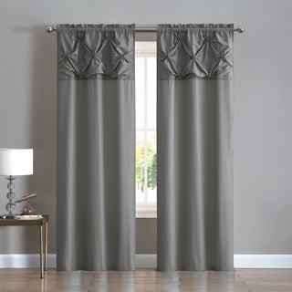 VCNY Home Floral Pintuck Curtain Panel Pair