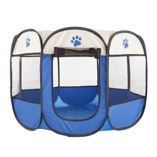 Link to Pop-Up Pet Playpen with Carrying Case for Indoor/Outdoor Use -by Petmaker (Blue) Similar Items in Dog Houses & Pens