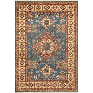 Handmade Kazak Wool Rug (Afghanistan) - 6'7 x 9'9